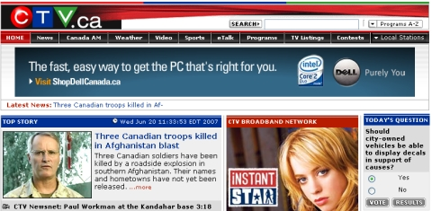 Troop Support Poll on CTV