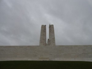 The tomb of the unknown solder at front side of Vimy Ridge